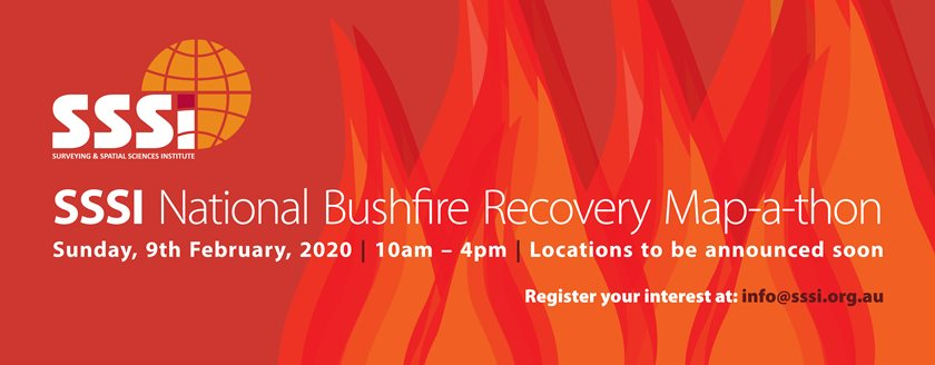 SAVE THE DATE - SSSI National Bushfire Recovery Map-a-thon